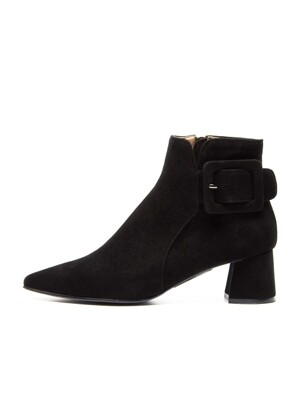 Pointed ankle boots [BLACK]