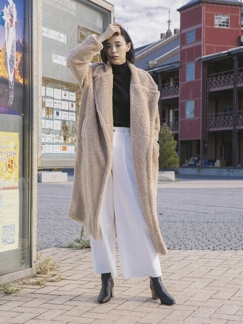oversize curly long coat