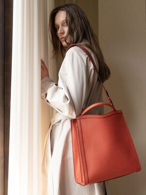 TRAPE TOTE BAG_ORANGE