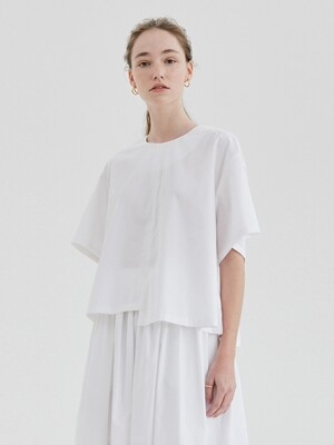 UNBALANCED BLOUSE WOMEN [WHITE]