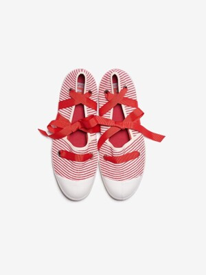 WOMAN ESPADRILLE LIMITED STRIPE - RED
