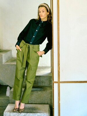 Cargo-like Pants in Khaki