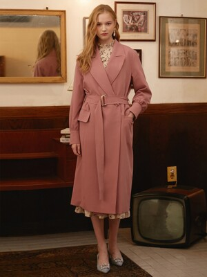 PINK TAILORD TRENCH COAT