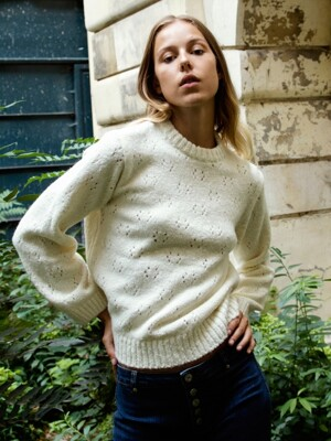 Open-knit Wool Jumper_Ivory