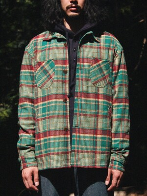 PARACHUTE FLANNEL JACKET [Green]