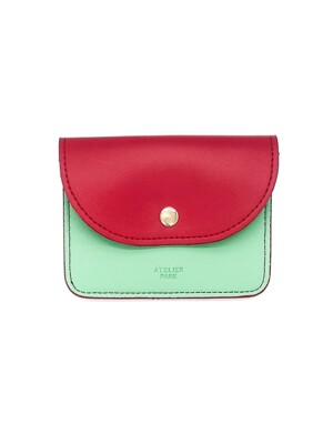 EASY WALLET _ RED / MINT