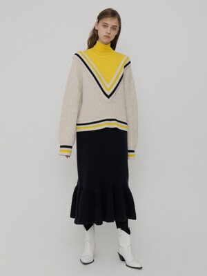 R V ST RIB KNIT DRESS