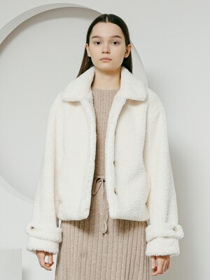 Dumble crop jacket ivory