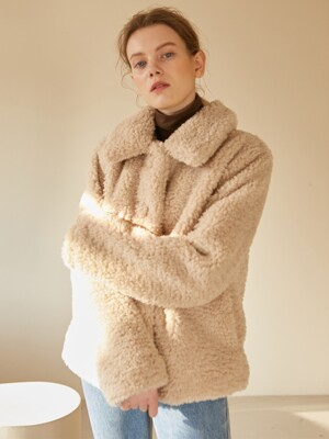 19W ECO FUR SHORT COAT (2colors)