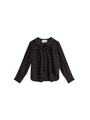 Leegoc flower lace blouse - Black