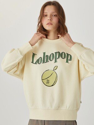 Lohopop Sweat Shirt [CUSTARD YELLOW] JYTS1B901Y1