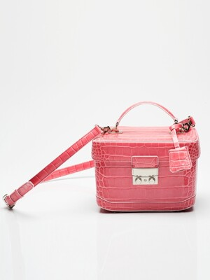 tashiana no.2 bag croco pink