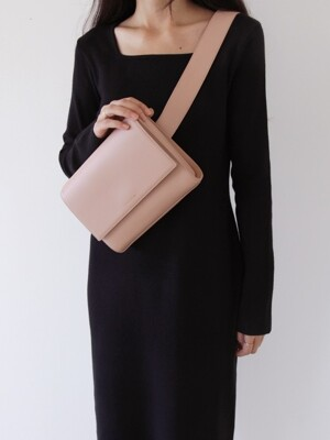 3-WAY LEATHER BAG - NUDE PINK