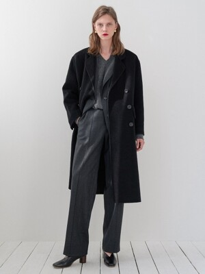 Hand-made Sister Coat(Black)