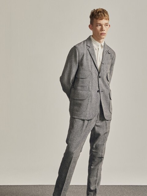 MAGAZINE JACKET (GREY WOOL)