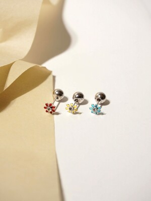 Daily 2way earrings_Flower