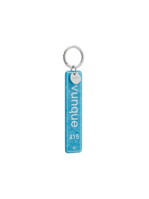 Four fifteen Key Charm _ Light Blue