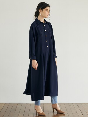 BUTTON POINT SHIRT DRESS_NA