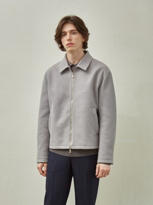 Woolen Single Jacket_Gray