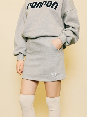 PASTEL BANDING SKIRT GRAY