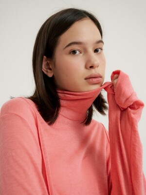 Wool polaneck-T_Plum pink