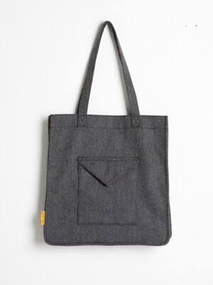 헤링본 에코백ENVELOPE BAG - YS2078DG /DARK GRAY