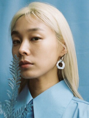 [THE GOBO x Root57] STONE HOOP EARRING_003CB_E04