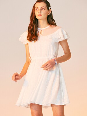 SILVER POINT MINI DRESS_WHITE