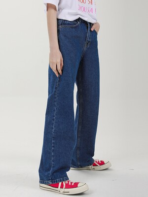 WIDE DENIM PANTS C518PT001-DB
