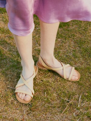SLIM STRAP SANDALS_PASTEL YELLOW