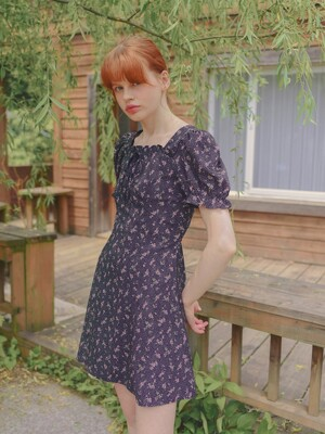 Momo Ribbon Dress_Navy