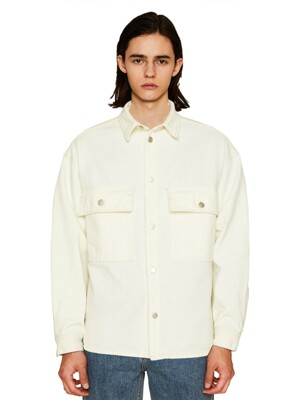 IVORY BLEACHED WASHING ECRU SHACKET