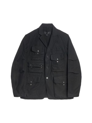 TREKKING JACKET / BLACK BACKSATIN