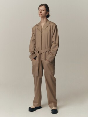 20FW POCKET JUMPSUIT - BEIGE