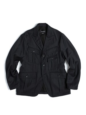 EXPLORER JACKET / BLACK WOOL