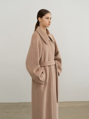 ALPACA AND WOOL BLEND RAGLAN COAT