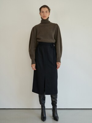TTW WOOL WRAP SKIRT 2COLOR
