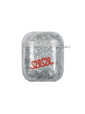 HOLIDAY GLITTER AIRPODS CASE [SILVER]