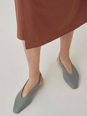 TIA Slingback flat Shoes[FOGGY BLUE] JYSO1B900B1