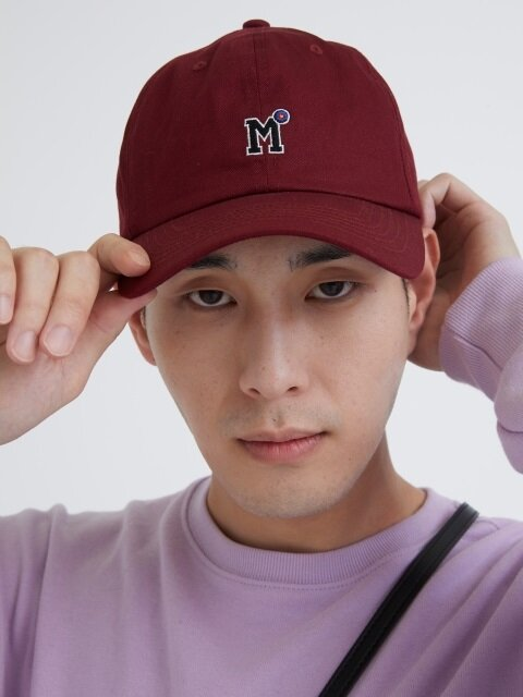 ARCHERY M LOGO BALL CAP BURGUNDY