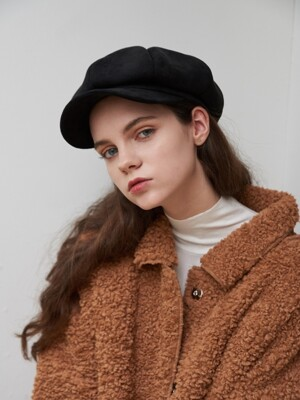 Brest Suede Newsboy Cap (2color)