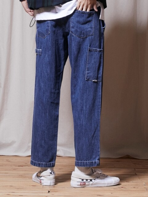 PL059_UBDTY Denim Banding Pants_Blue