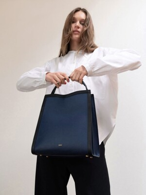 TRAPE TOTE BAG_NAVY