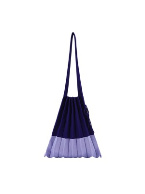 Lucky Pleats Knit M Mix Blueberry
