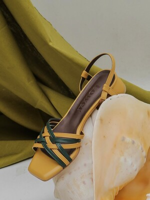 Two-tone Sandals_Yellow