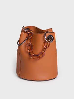 한나백 11° Hannah bag - BROWN WITH momo chain strap