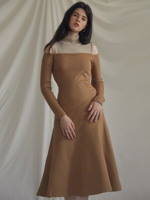 ES LAYERED DRESS(BROWN)