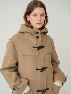 wool duffle coat (beige)