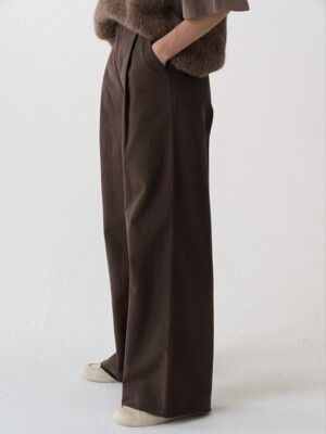 wide denim (brown)