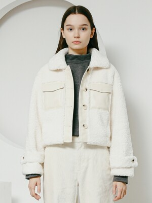 Dumble short pocket jacket ivory